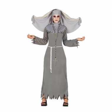 Halloween grijze geest nonnen kostuum dames