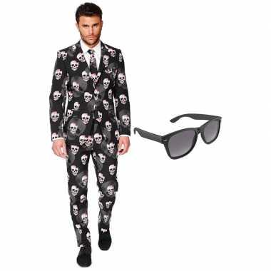 Halloween heren kostuum maat 56 xxxl gratis zonnebril
