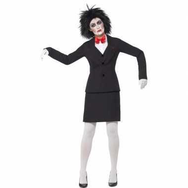 Kostuums Dames.Halloween Saw Jigsaw Dames Kostuum