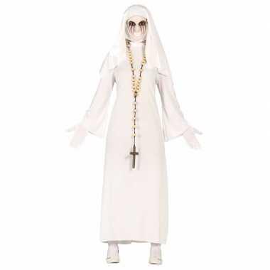 Halloween spookachtige nonnen kostuum dames