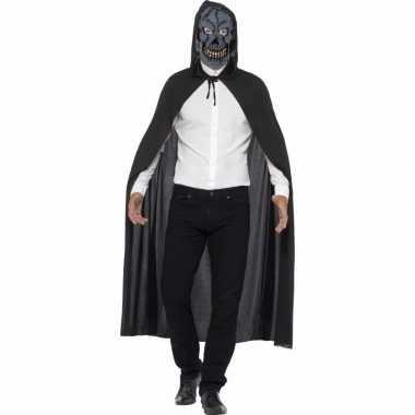 Halloween verkleed kostuum zombie skelet masker