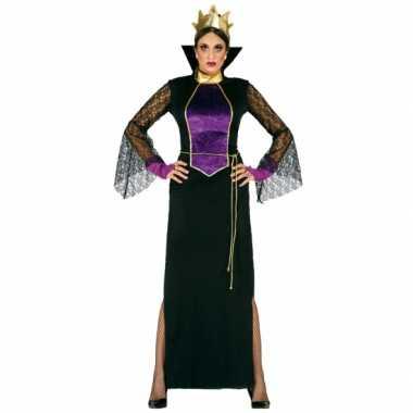 Halloweenkleding luxe heksen kostuum jurk dames