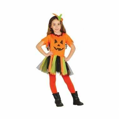 Halloweenkleding oranje pompoen kostuum jurkje meisjes