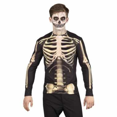 Halloweenkostuum skelet heren shirt