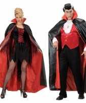 Halloween kostuum zwart rood